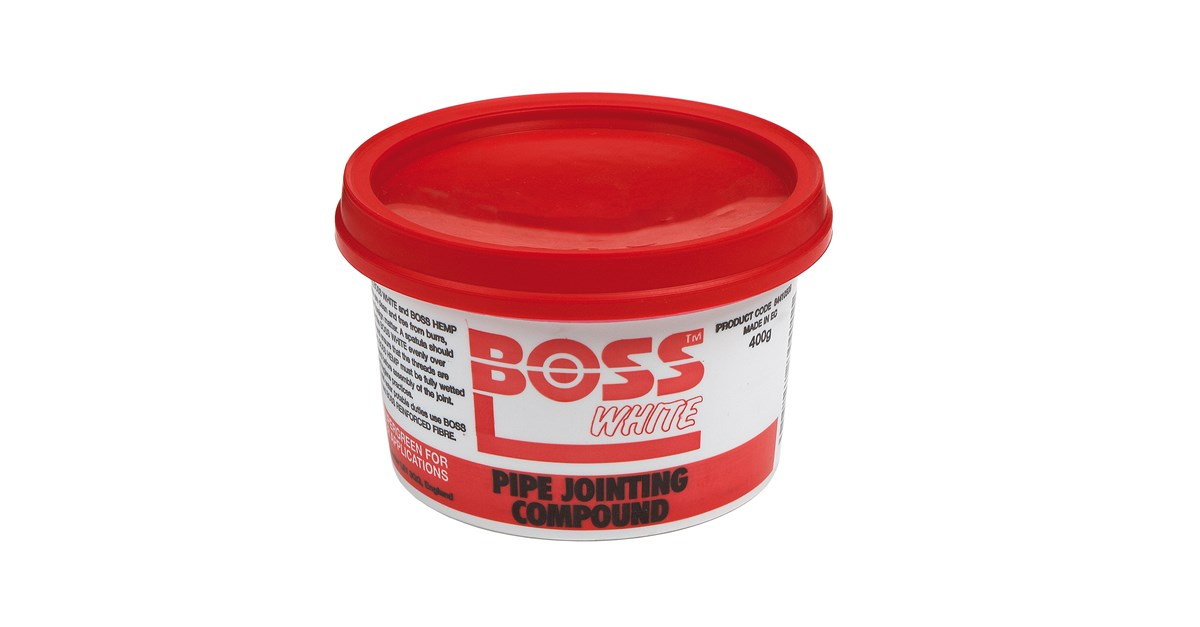 Boss White Pipe Jointing Compound 400g Fixings