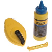 Stanley  Chalk Line, Blue Chalk & Level - 30 Metre