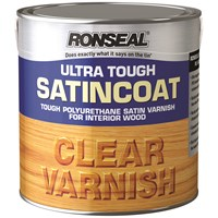 Ronseal  Ultra Tough Varnish Satin - 2.5 Litre