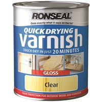 Ronseal  Quick Drying Varnish Gloss - 750ml