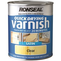 Ronseal  Quick Drying Varnish Satin - 750ml