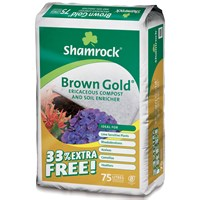 Shamrock  Brown Gold Ericaceous Compost & Soil Enricher - 33% Extra Free