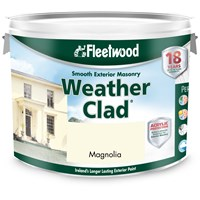 Fleetwood Weather Clad Masonry Magnolia - 10 Litre