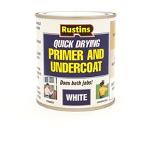 Rustins  Quick Dry Primer & Undercoat White Paint - 500ml