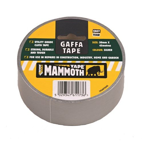 Everbuild Mammoth Gaffa Tape 50mm x 45m - Silver