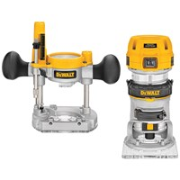 Dewalt  D26204K 8mm Premium Plunge & Fixed Base Combi Routers - 240V