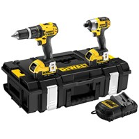 Dewalt  DCK285M2 XR Li-ion Combi Drill & Impact Driver Twin Pack Kit - 18V