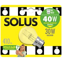 Solus  BC Round Halogen Energy Saver Light Blub - 30W