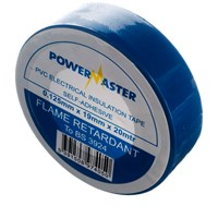 Powermaster  20m PVC Insulating Tape - Blue