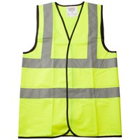 Cargo  2 Band Hi Vis Vest - Yellow