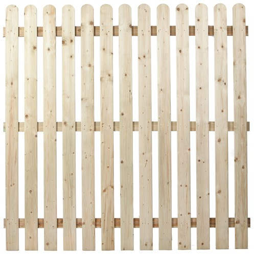 Independent Fencing  Premier Round Top Picket Fence Panel - 1800 x 1800mm