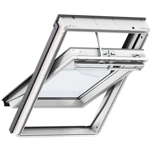 Velux Integra Centre Pivot Electric Roof Window White -  GGU 007021U