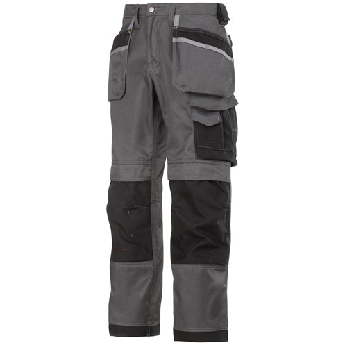 Snickers  3212 Craftsmen DuraTwill Holster Pocket Trousers - Grey/Black