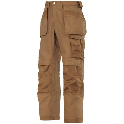 Snickers  3214 Craftsmen Canvas+ Holster Pocket Trousers - Brown